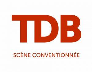 logo TDB scène conventionnée orange