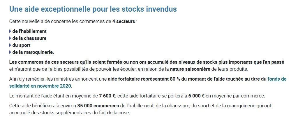 stock invendu
